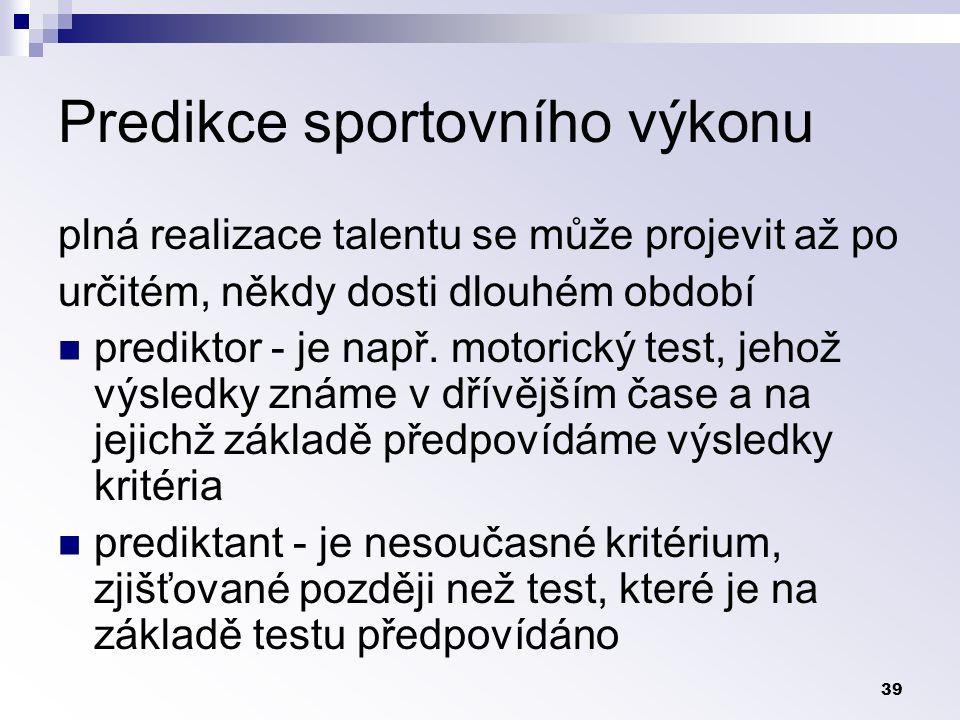Predikce sportovního výkonu