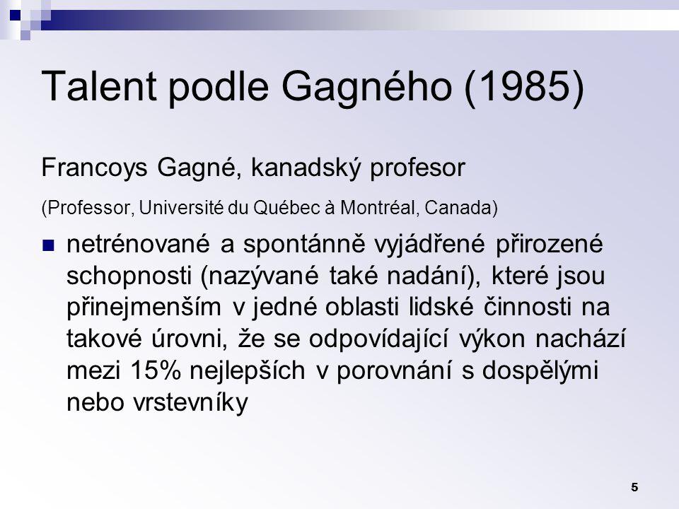 Talent podle Gagného (1985)