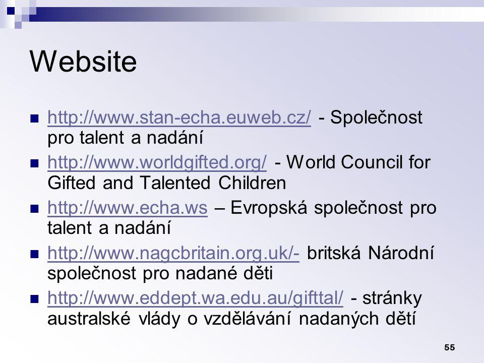 Website http://www.stan-echa.euweb.cz/ - Společnost pro talent a nadání.