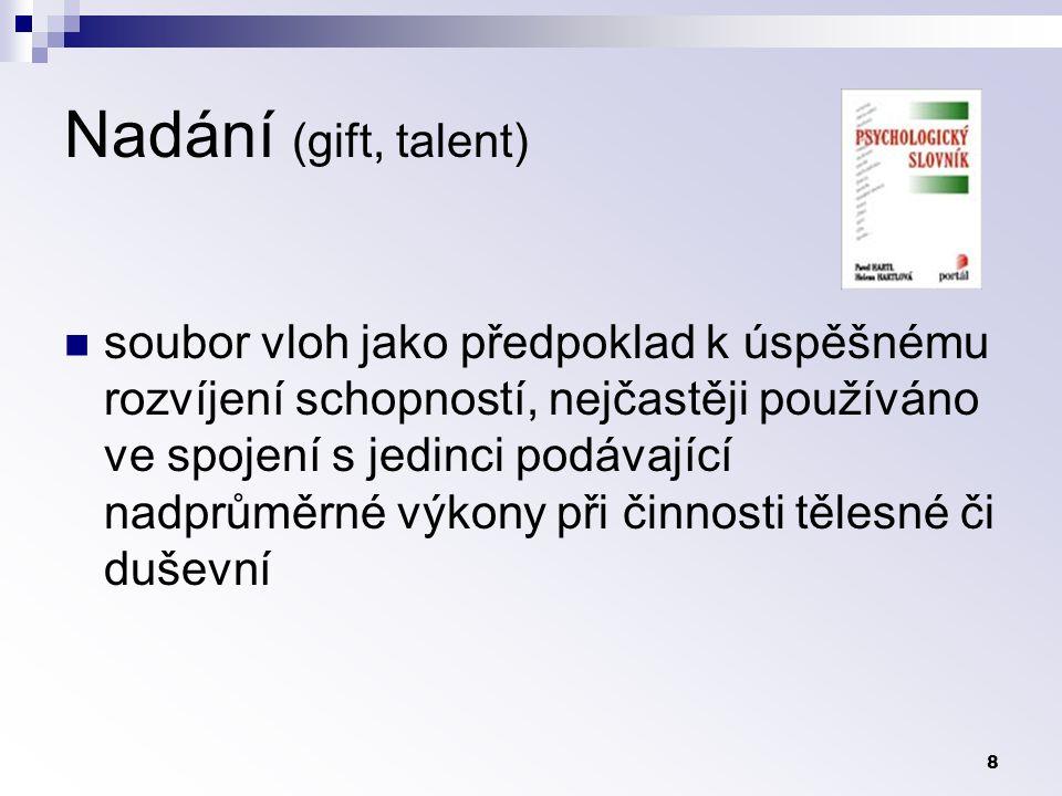 Nadání (gift, talent)