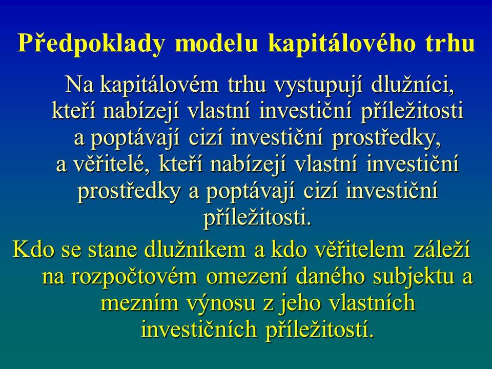 Předpoklady modelu kapitálového trhu