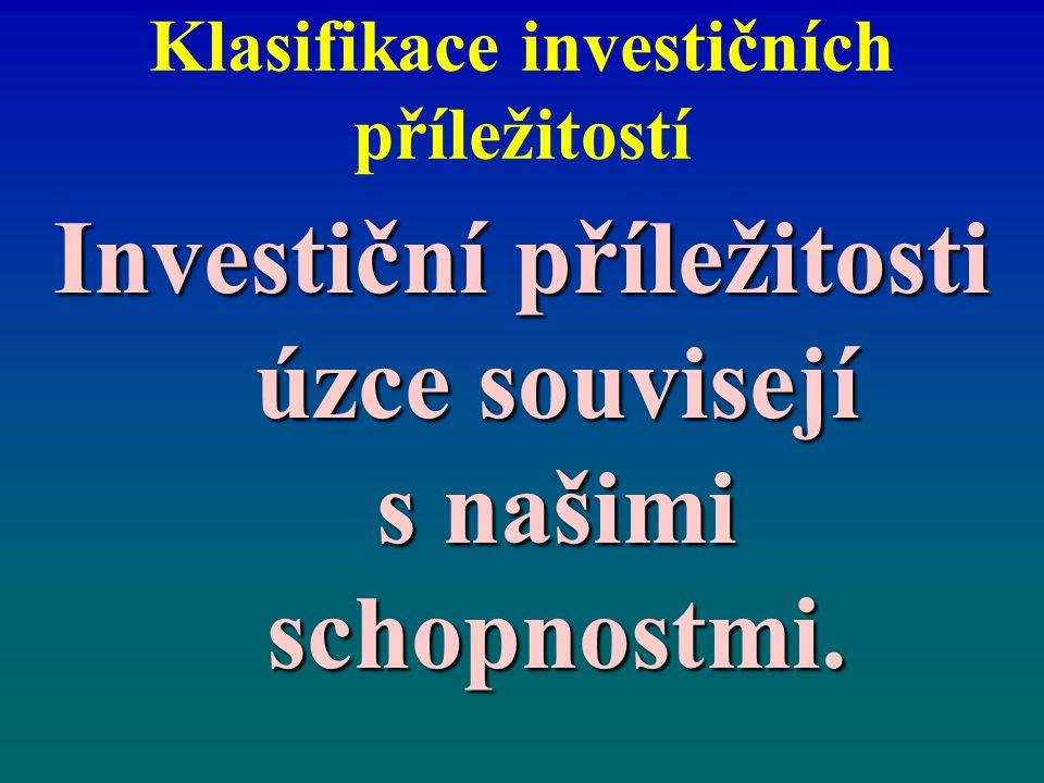 Klasifikace investičních příležitostí