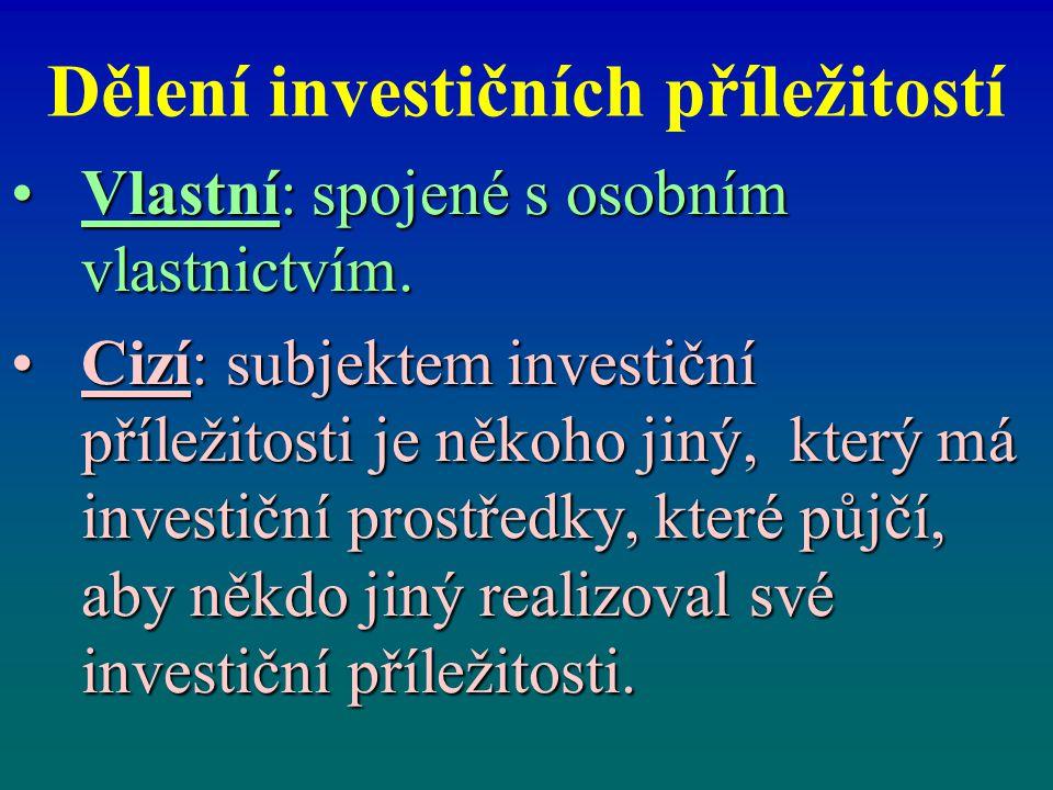 Dělení investičních příležitostí