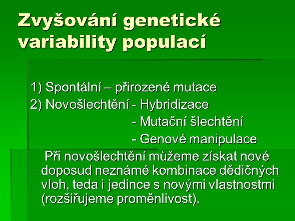 Zvyšování genetické variability populací