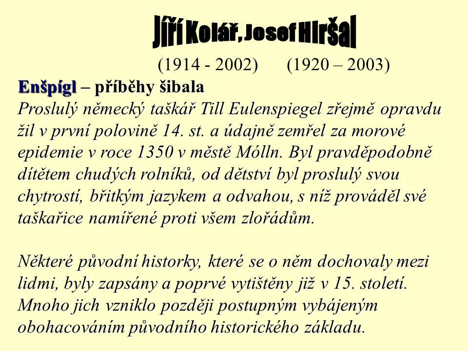 Jíří Kolář, Josef Hiršal