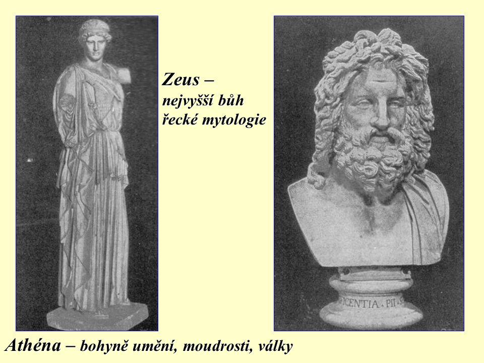 Athéna – bohyně umění, moudrosti, války