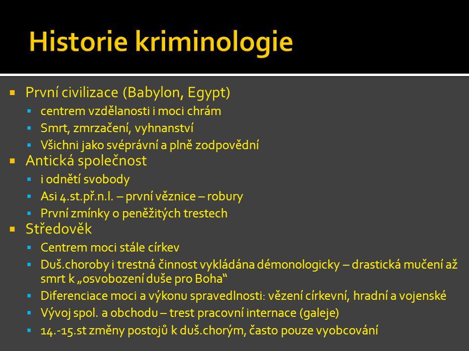 Historie kriminologie