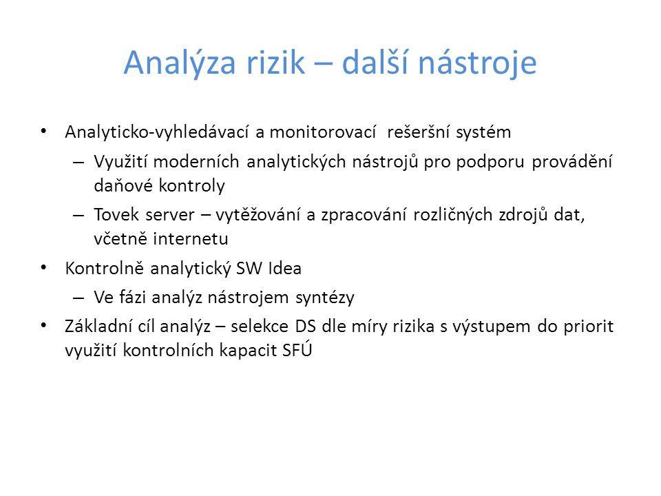 Analýza rizik – další nástroje