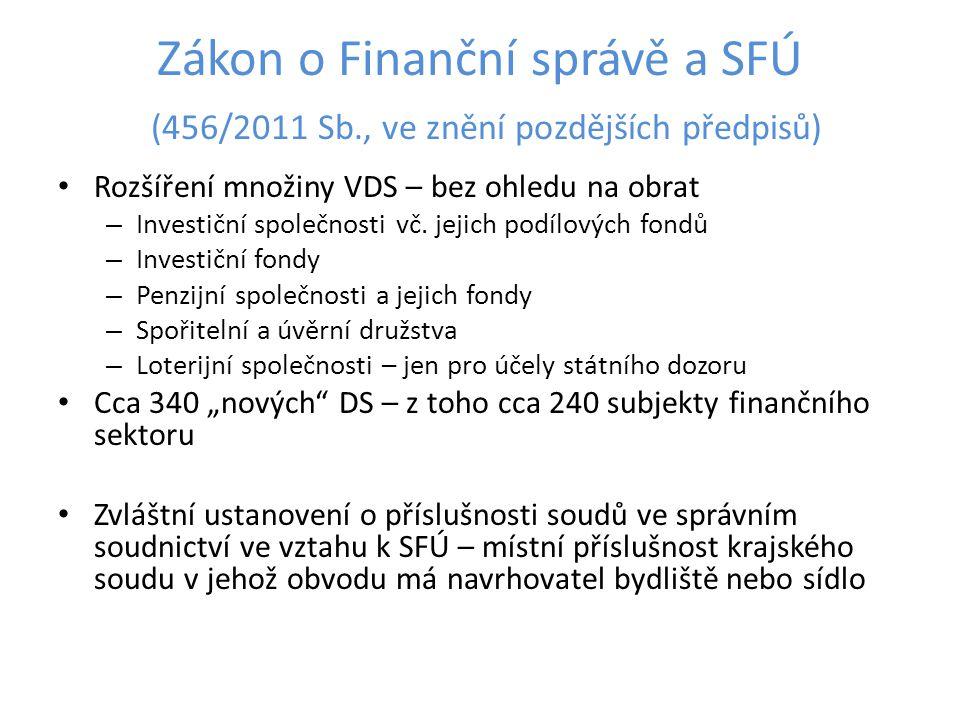 Zákon o Finanční správě a SFÚ (456/2011 Sb