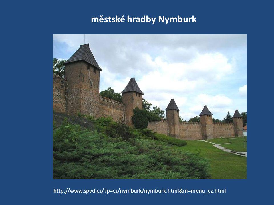 městské hradby Nymburk