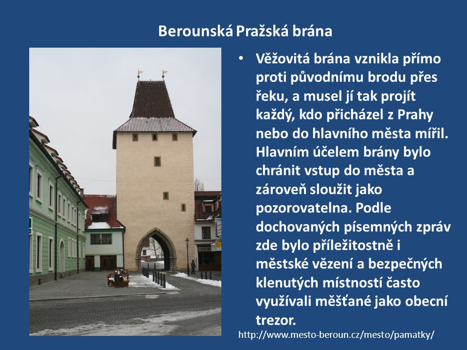 Berounská Pražská brána