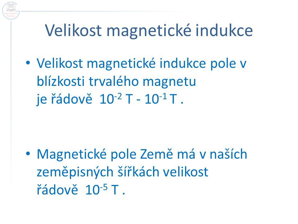 Velikost magnetické indukce