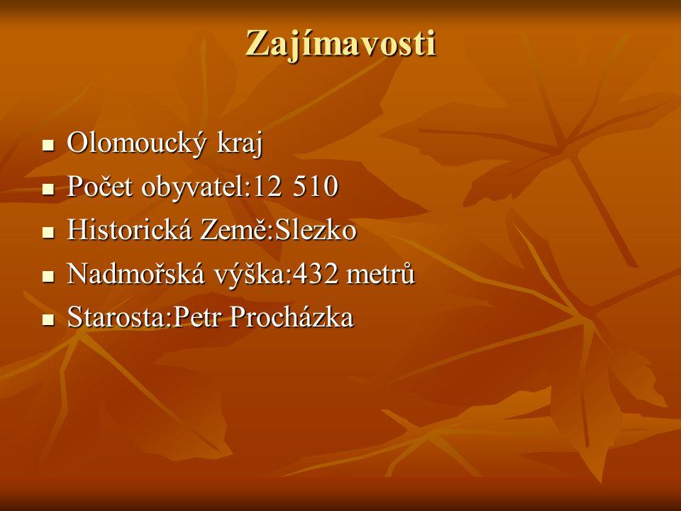 Zajímavosti Olomoucký kraj Počet obyvatel:12 510