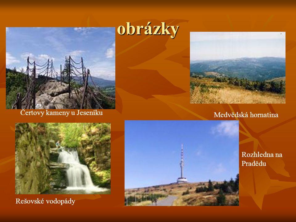obrázky Čertovy kameny u Jeseníku Medvědská hornatina