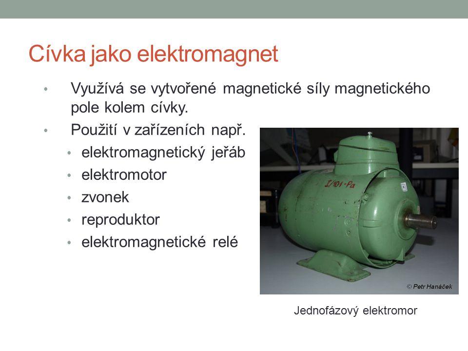 Cívka jako elektromagnet