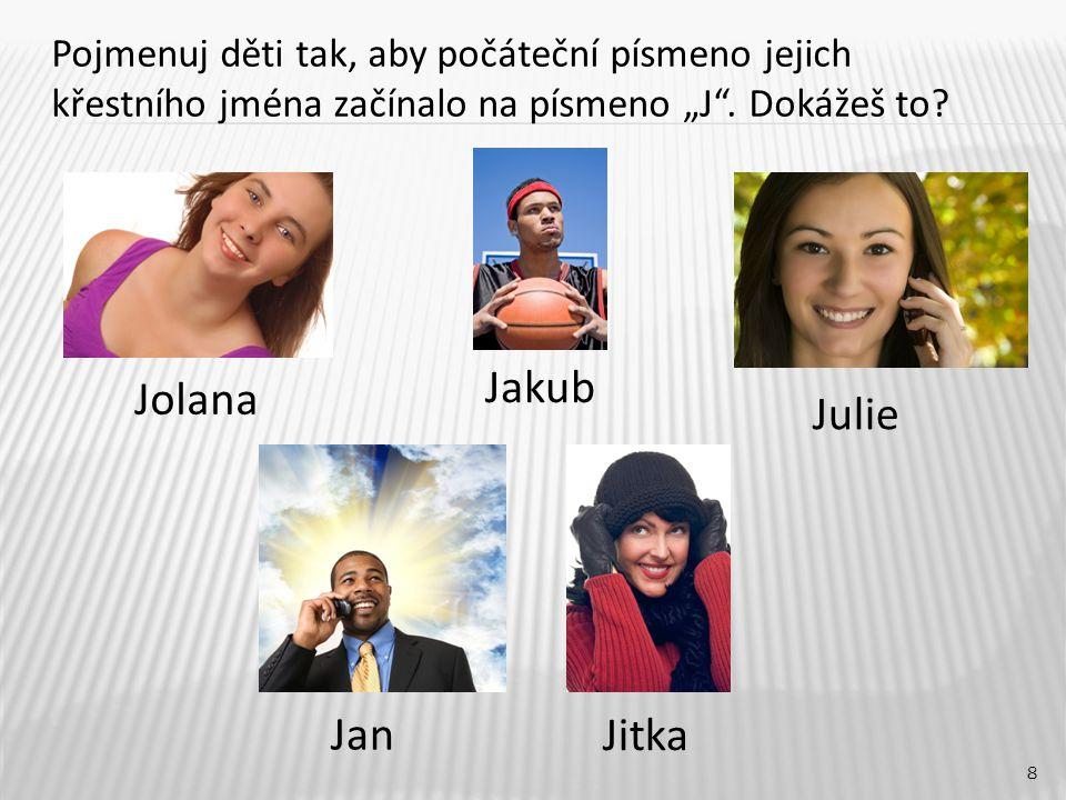 Jakub Jolana Julie Jan Jitka