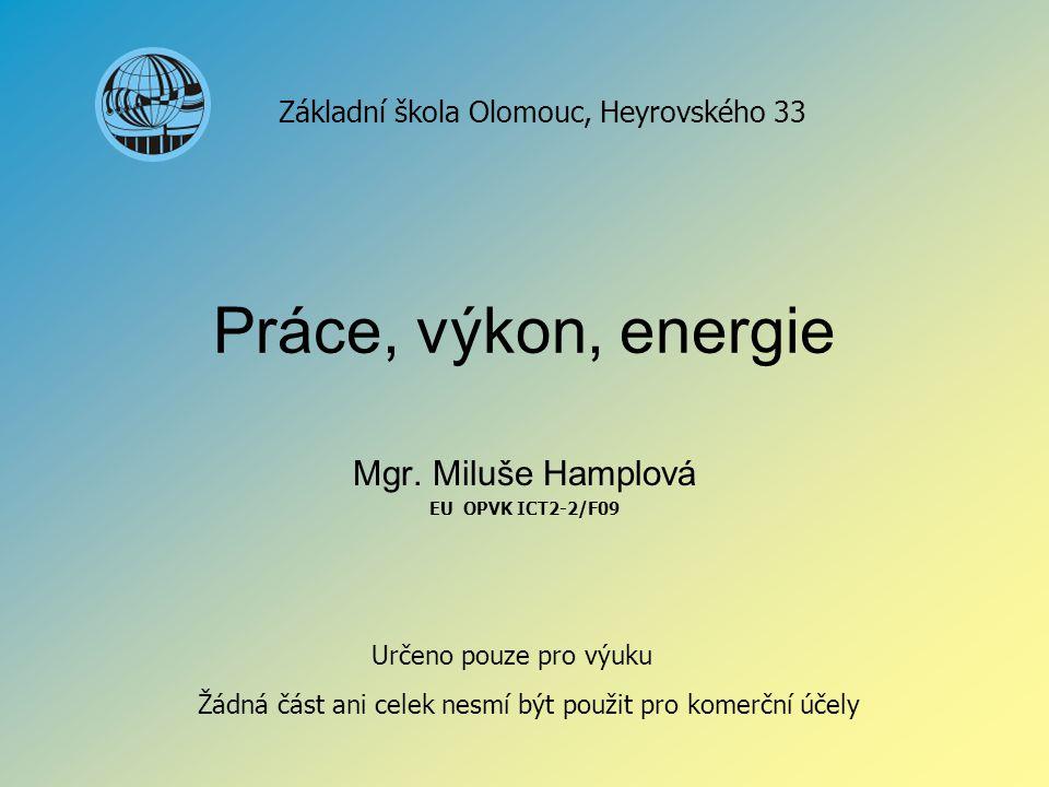 Mgr. Miluše Hamplová EU OPVK ICT2-2/F09