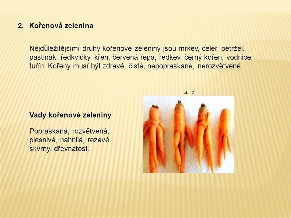 Vady kořenové zeleniny