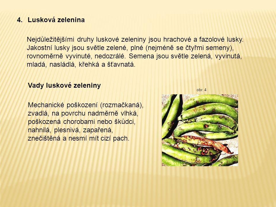 4. Lusková zelenina