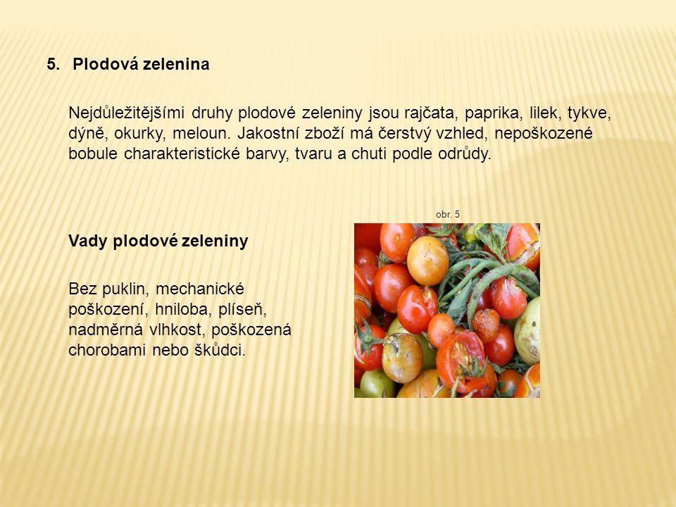 5. Plodová zelenina
