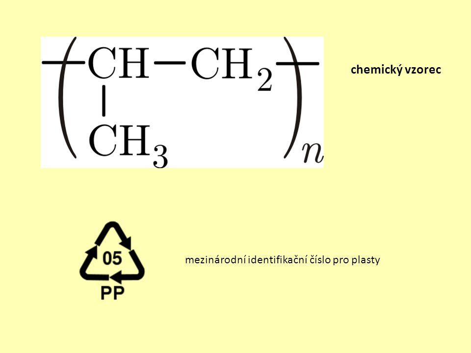 chemický vzorec mezinárodní identifikační číslo pro plasty