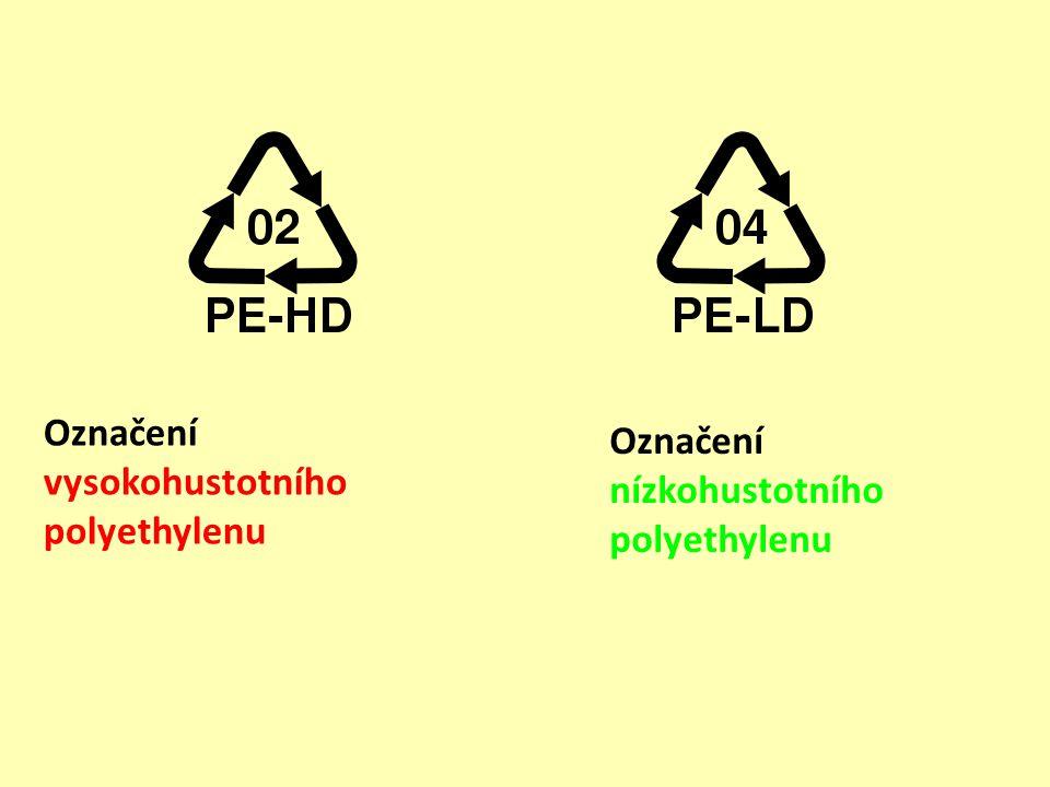 Označení vysokohustotního polyethylenu