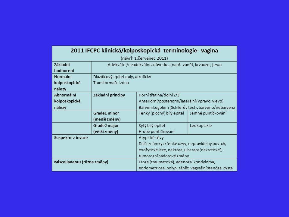 2011 IFCPC klinická/kolposkopická terminologie- vagina