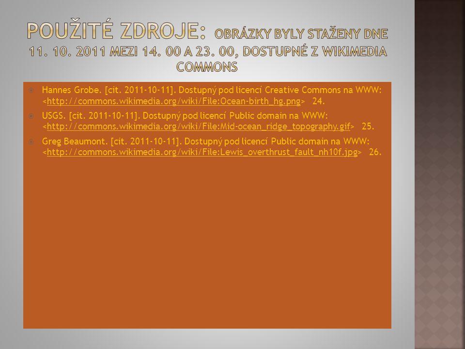 Použité zdroje: Obrázky byly staženy dne 11. 10. 2011 mezi 14. 00 a 23