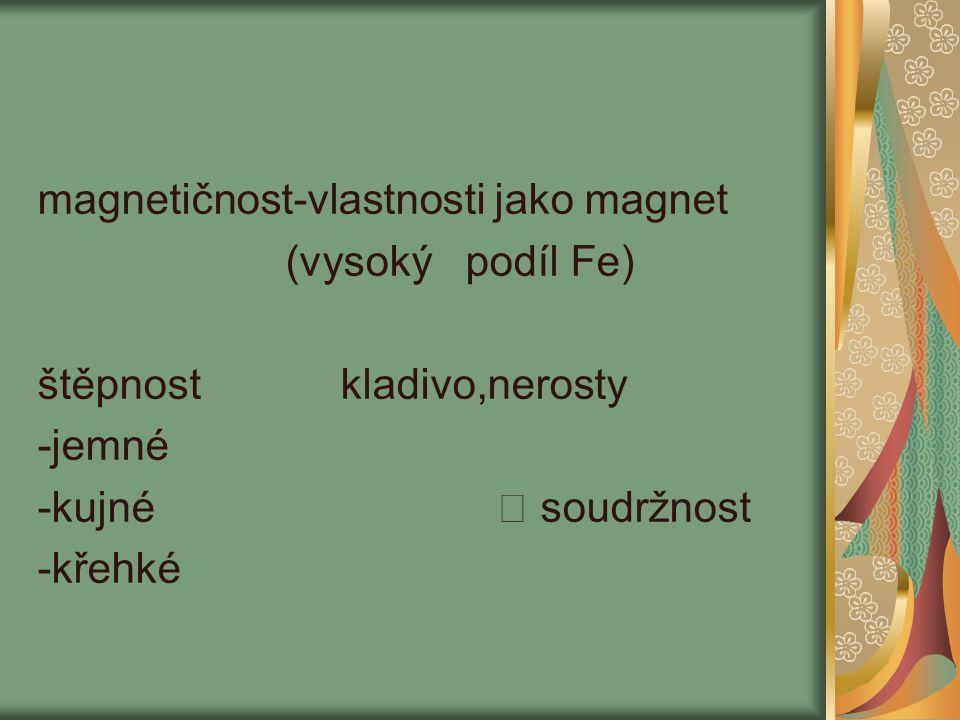 magnetičnost-vlastnosti jako magnet