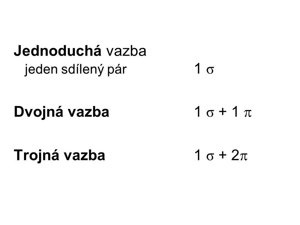 Jednoduchá vazba jeden sdílený pár 1 σ