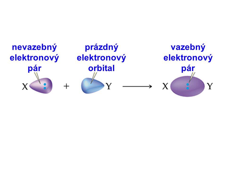 nevazebný elektronový pár prázdný elektronový orbital