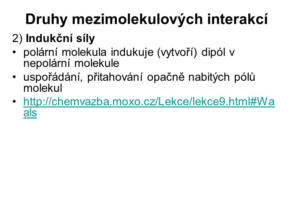 Druhy mezimolekulových interakcí