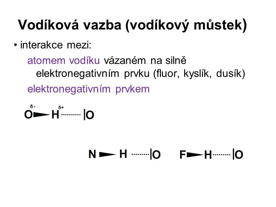 Vodíková vazba (vodíkový můstek)