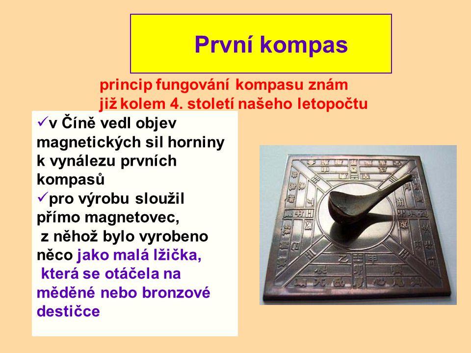 První kompas princip fungování kompasu znám