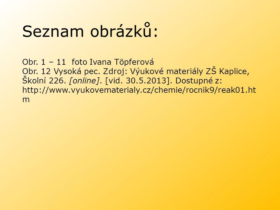 Seznam obrázků: