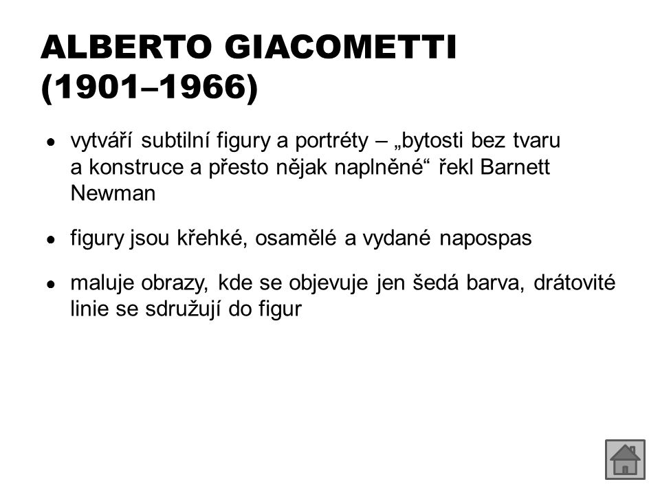 ALBERTO GIACOMETTI (1901–1966)