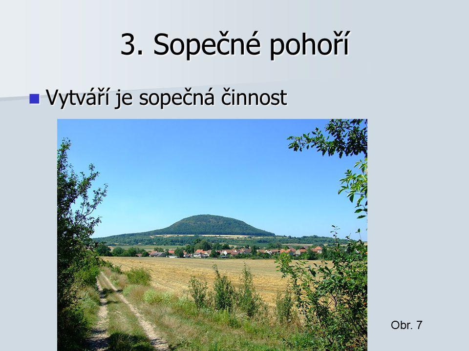 3. Sopečné pohoří Vytváří je sopečná činnost Obr. 7