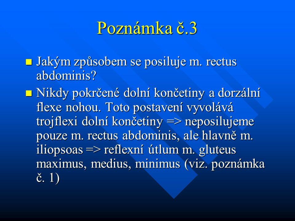 Poznámka č.3 Jakým způsobem se posiluje m. rectus abdominis