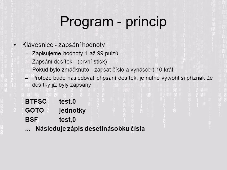 Program - princip Klávesnice - zapsání hodnoty BTFSC test,0