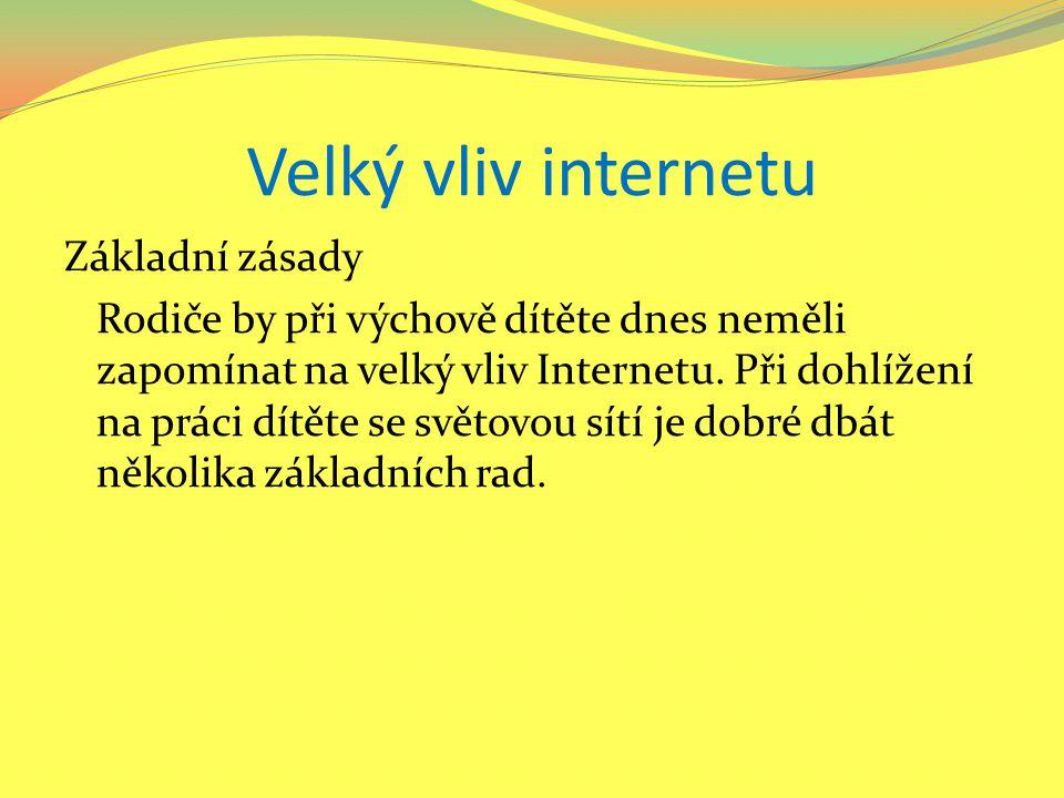 Velký vliv internetu