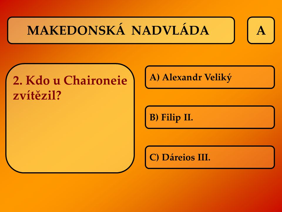 2. Kdo u Chaironeie zvítězil