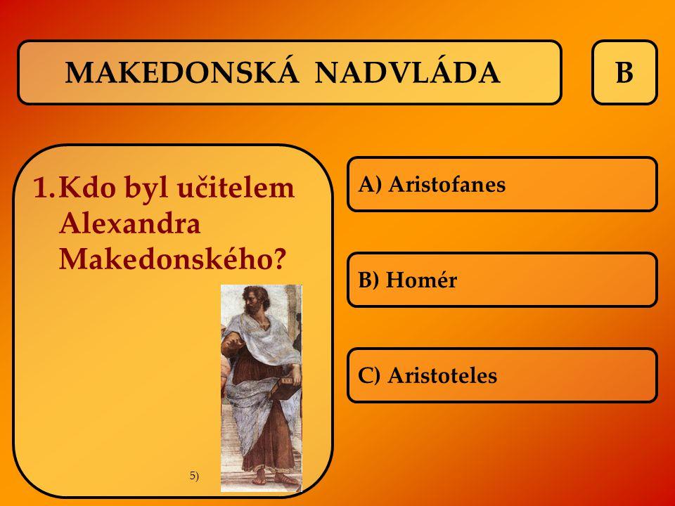 Kdo byl učitelem Alexandra Makedonského