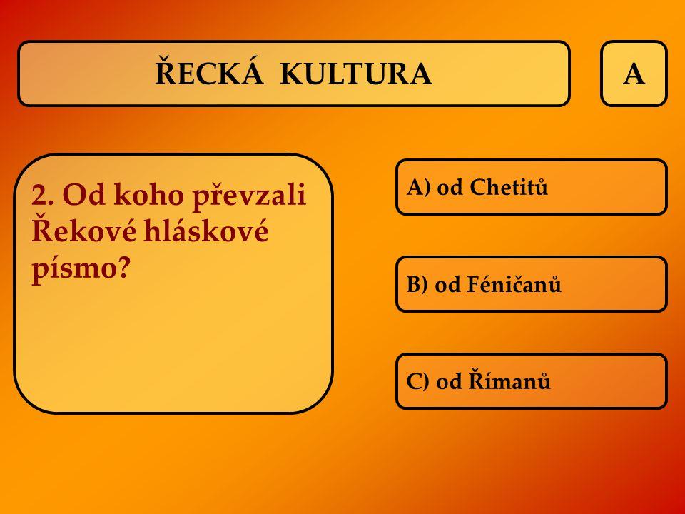 2. Od koho převzali Řekové hláskové písmo
