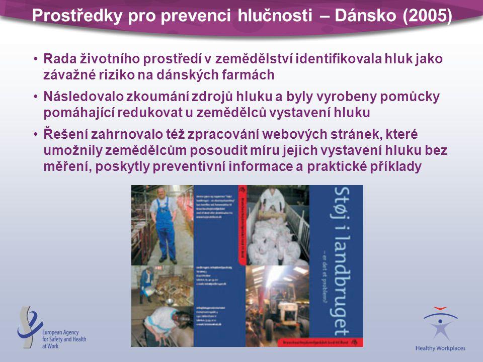 Prostředky pro prevenci hlučnosti – Dánsko (2005)