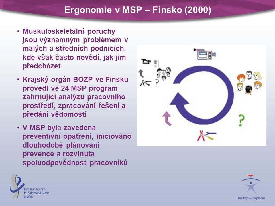 Ergonomie v MSP – Finsko (2000)