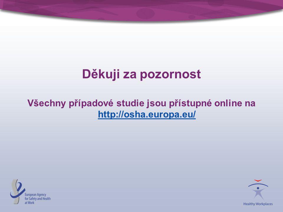 Děkuji za pozornost Všechny případové studie jsou přístupné online na http://osha.europa.eu/