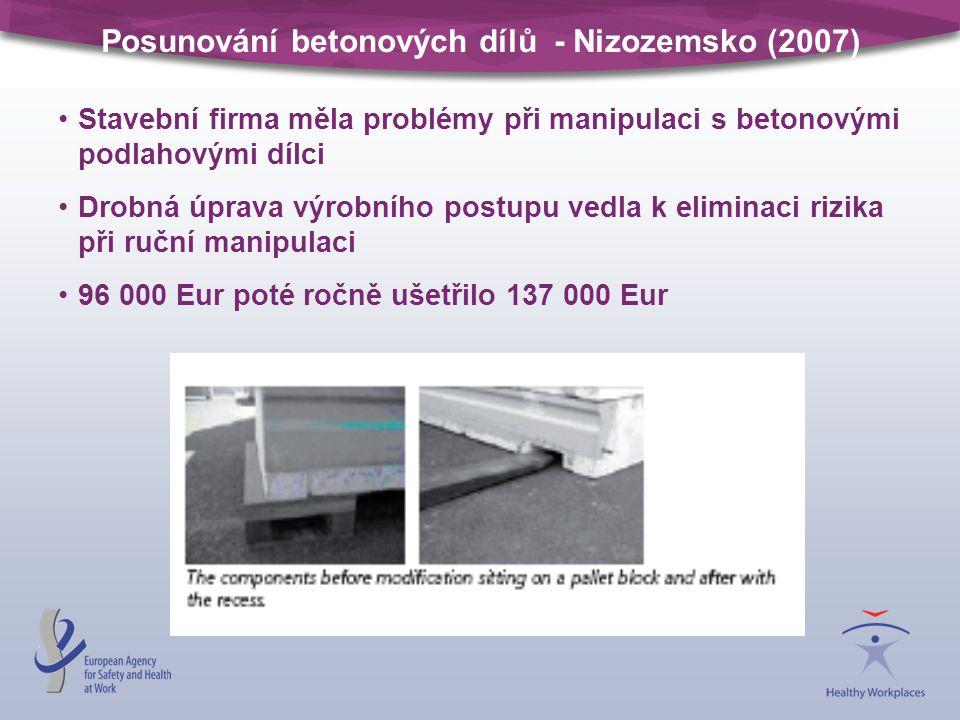 Posunování betonových dílů - Nizozemsko (2007)