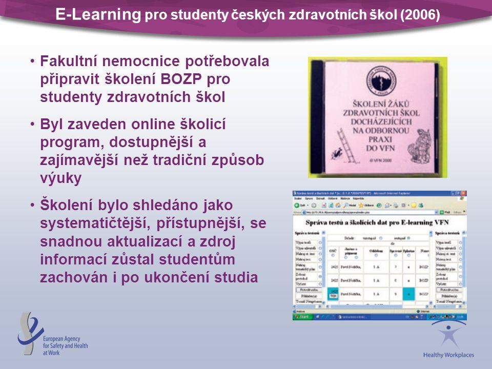 E-Learning pro studenty českých zdravotních škol (2006)