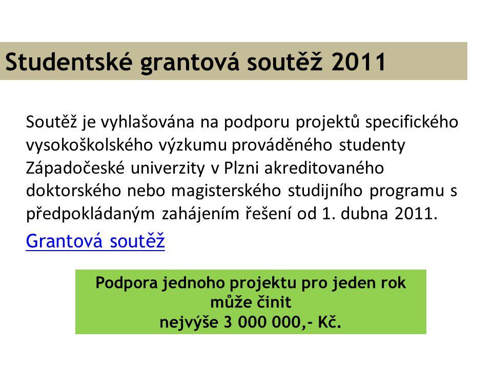 Studentské grantová soutěž 2011