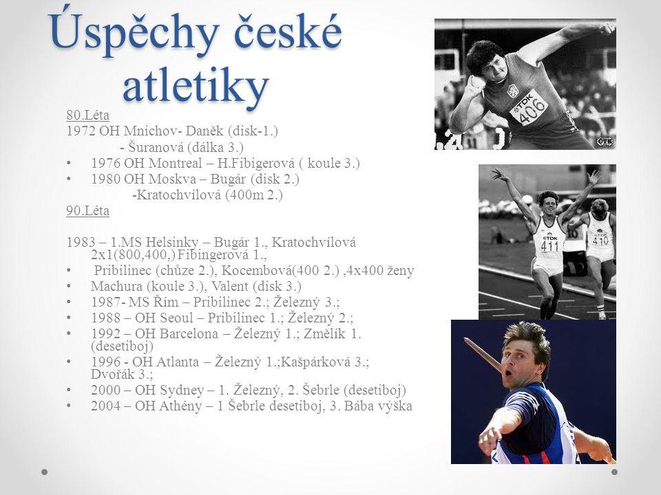 Úspěchy české atletiky